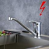 Spültischarmatur Niederdruck Chrom/Wasserhahn/Küchenarmatur/Schwenkbereich/Einhebelmischer/Küche/Beelee BL7080DY