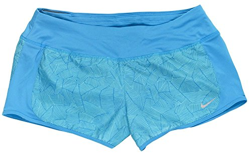 Nike Women's Canopy Printed Dri-fit Crew Shorts Large Blue