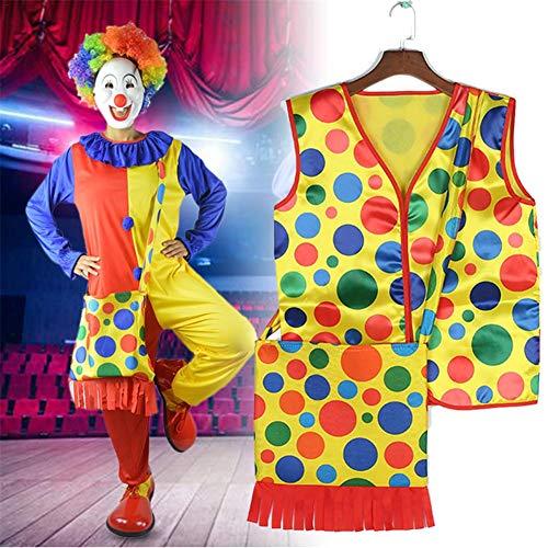 Bunte Punkte Cosplay Performance Wear Tops Halloween Make-up Kostüme für Zirkus Einkaufszentrum Bühne Maskerade Thema Party Halloween ()