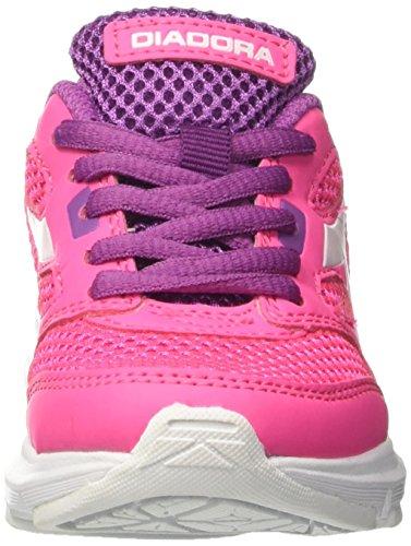 Diadora Shape 7 Jr, Chaussures de Course Mixte Enfant Rose (Mare/verde Cacatura)