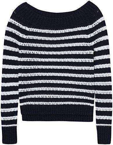 FIND Pull Marin Femme Bleu (Navy/white)