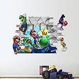 JUNMAONO Super Mario Bros Wandaufkleber/Wandgemälde/Wand Poster/Wandbild Aufkleber/Wandbilder/Wandtattoo/Pinupbild/Beschriftung/Pad einfügen/Tapete/Tapezieren/Tapeten/Wand Zeitung/Wandmalerei/Haftnotiz/Fühlen Sie sich frei zu kleben/Instant Aufkleber/3D-Stereo-Wandaufkleber