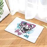 LYJZH Badematte Badezimmer Teppich Rutschfester Badematten Badteppich Waschbar Flanellmatten Brillenmatten saugfähige Antirutschfarbe13 40 * 60cm