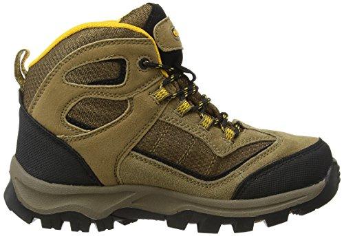 Hi-Tec Jungen Hillside Waterproof Junior Trekking-& Wanderhalbschuhe Beige (Smokey Brown/Gold 041)