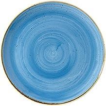 Churchill Stonecast platos redondos de cerámica azul ...