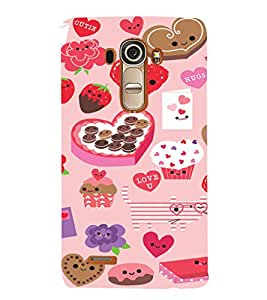 EPICCASE Love n Cake Mobile Back Case Cover For LG G4 (Designer Case)