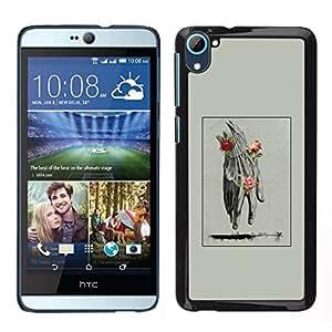 EJOY---Pelle della copertura di caso di protezione dura ** HTC Desire D826 ** --Mano Uomo Primavera Deep Rose Significato