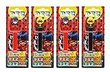 PEZ set de dispensadores Miraculous (4 dispensadores PEZ / 2 surtidos con 3 recargas de caramelos PEZ de 8,5g c/u) + 2 paquetes de recargas (8 recargas de caramelos PEZ de 8,5g c/u)