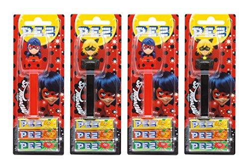 Preisvergleich Produktbild PEZ Spender Set Miraculous (4 PEZ Spender / 2 Sortimente mit je 3 PEZ Bonbons á 8, 5g) + 2 Nachfüllpacks (8 PEZ Bonbons á 8, 5g)