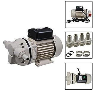 Helo AD-Blue Pumpe Fasspumpe selbstansaugend mit 34l/Min. Förderleistung, gepresste Anschlüsse, 230V - 0,4Kw (50Hz), Pumpe inkl. Anschlussstücke, Schellen und Dichtringe