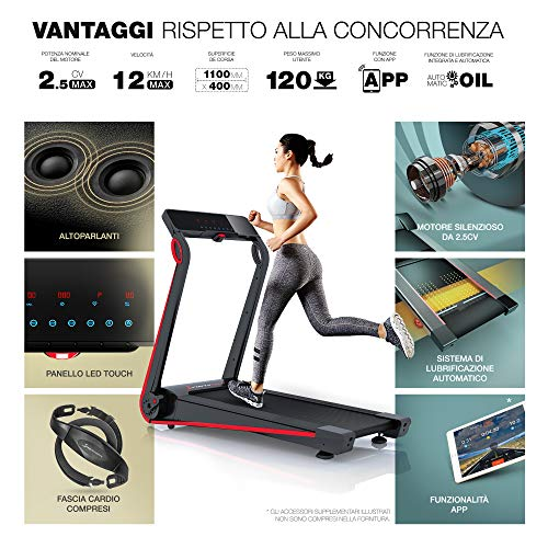 Zoom IMG-3 sportstech tapis roulant f17 console