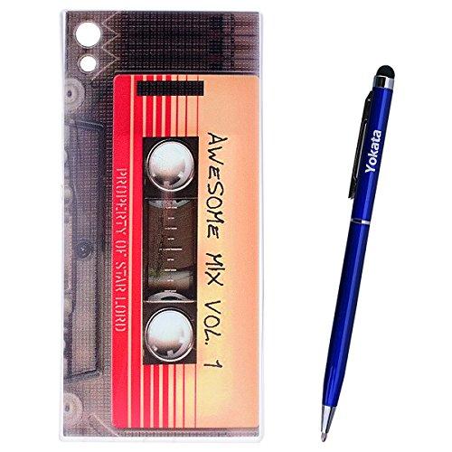 Yokata Coque Sony Xperia XA1 Ultra Étui Transparente Motif Simple Etui Sony Xperia XA1 Ultra Silicone Souple Ultra Fine Mince Soft Gel Case Bumper en Slim Cover Anti Choc Housse de Protection - Ruban