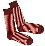 Dillysocks bunte Socken für Damen und Herren, Herrensocken in Premiumqualität aus Europa, Baumwollsocken Größe 41 - 46 (Red Ring)