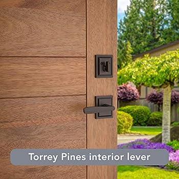 Baldwin Prestige Torrey Pines Low Profile Single Cylinder Full Escutcheon with Torrey Lever Featuring SmartKey in Venetian Bronze