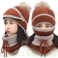 Easy Go Shopping Sombrero de Punto para Mujer Orejeras de Ciclismo de Invierno  Sombrero de Punto 6f56e87dd35