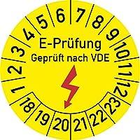 Elektro-Prüfung Geprüft nach VDE Prüfplakette, 250 Stück, in verschiedenen Größen, Prüfetikett Prüfsiegel Plakette Elektroprüfung