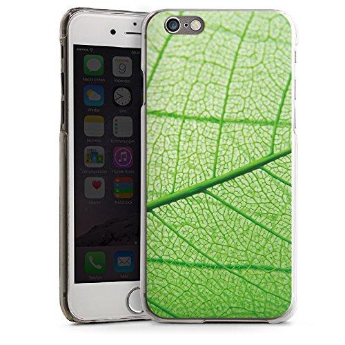 Apple iPhone 5s Housse Étui Protection Coque Feuille Plante Vert CasDur transparent