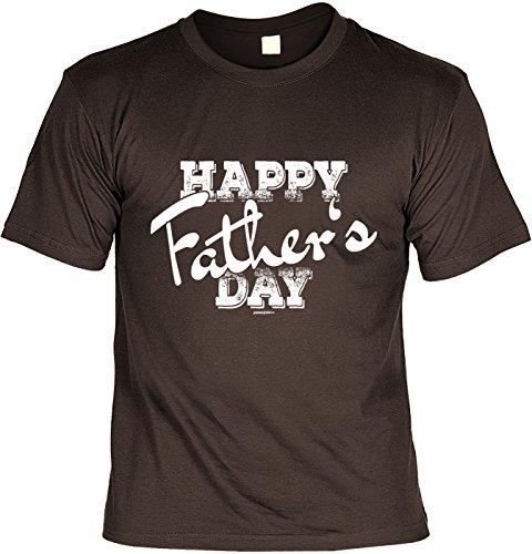 Vatertag Papa T-Shirt Geschenk Geburtstag Weihnachten Vatertagsgeschenk Happy Father´s day Braun
