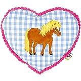 Spiegelburg 13394 Kuschelkissen Mein kleiner Ponyhof, blau
