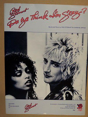 song sheet DA YA THINK I' M SEXY Rod Stewart 1978