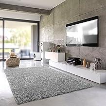 Finest Flauschiger Hochflor Frs Wohnzimmer Oder Einfarbig With Wohnzimmer  Farbe Grau