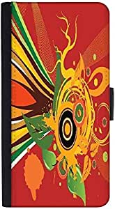Snoogg Abstract Background Graphic Snap On Hard Back Leather + Pc Flip Cover ...