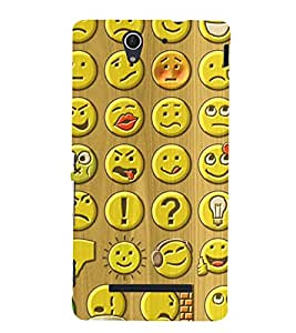 Smily Back Case Cover for Sony Xperia C3 Dual D2502::Sony Xperia C3 D2533