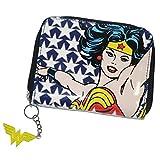 DC Comics–Retro Wonder Woman Monedero (Stars) con cremallera pronunciados Wonder Woman Logo