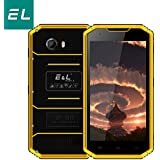 EL W7 4G LTE Display 5.0 Inch, Camera(8MP+5MP), Memory(1GB+16GB), Battery 2800mAh Rugged Smartphone With IP68 Waterproof Dustproof (Black+Yellow)