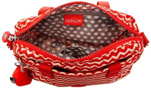 Kipling EMOLI K1532151M Damen Henkeltaschen 24x18x12 cm (B x H x T) Rot (Chevron Red Pr)
