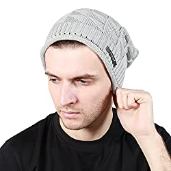 Noise Grey Knitted Slouchy Beanie
