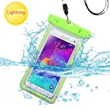 Premium impermeable deportes impermeable resistente al agua Lightning funda de transporte bolso de la bolsa para Huawei Mate S/G8(con cordón) (verde) + MYNETDEALS Mini pantalla táctil lápiz capacitivo