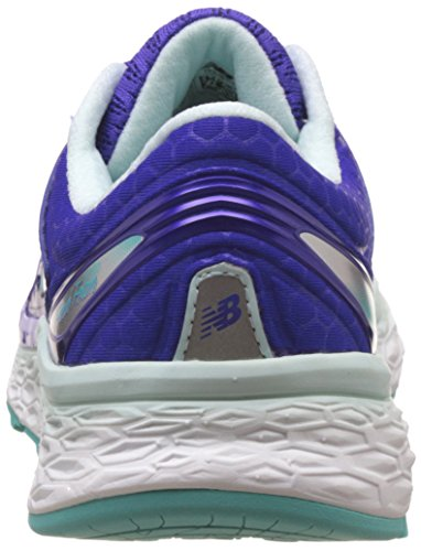 New Balance Women's Fresh Foam 1080v6 Running Shoe, Blue/White, 10.5 D US Blue/White