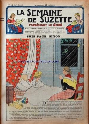 SEMAINE DE SUZETTE (LA) [No 15] du 10/03...