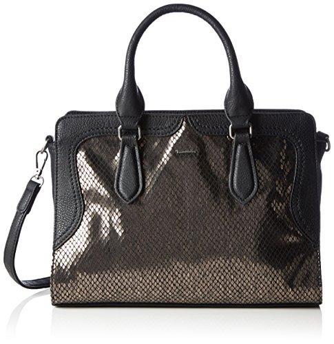 Tamaris Damen VANJA Bowling Bag Bowlingtaschen, Schwarz (black comb 098), 33x23x13 cm