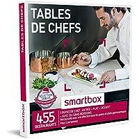 SMARTBOX - Coffret Cadeau - TABLES DE CHEF - 455 repas avec une sélection issue de guides et labels gastronomiques