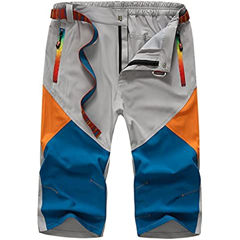 walk-leader Mens al aire libre Casual impermeable cremallera Capri recortada pantalones cortos para hombre