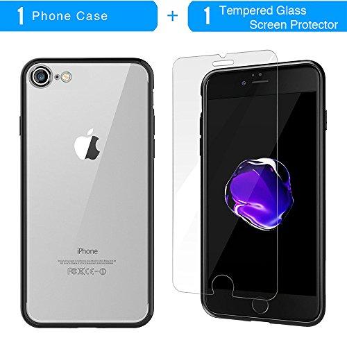Coque iPhone 7 Plus, TrendyBox Transparent Noir Givré Anti-rayures Rotation Bague Case pour iPhone 7 Plus avec verre trempe film de protection (Bohémien) 1011