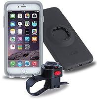 Tigra Sport MountCase Cycling Bike Kit Including MountCase, Waterproof Rain Guard and Handlebar Mount Strap Compatible with iPhone 6 Plus/6S Plus - Black