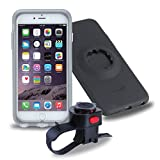 Tigra Sport Fahrradhalterung-Schutzhülle MountCase Bike Kit mit RainGuard Wasserschutz für iPhone 6 Plus/6S Plus - Schwarz/Transparent