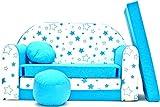 Kindersofa Spielsofa Minicouch aus Schaum Kindersessel Kissen Matratze Farbwahl (B38)
