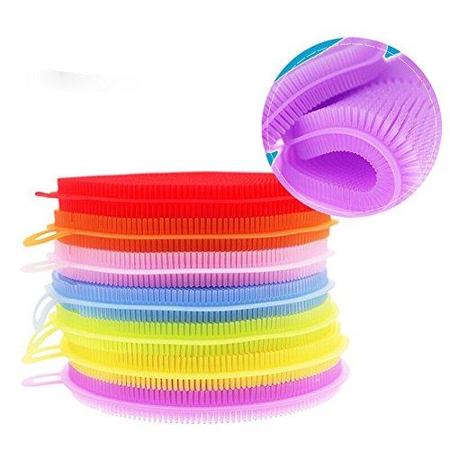5x Silikon Schwamm Scrubber,Vanyda Küche Werkzeug Schale Waschen Haushalt ,Küchenschwamm / Geschirrschwamm – sanft für schonende Reinigung (Make-up Waschen Sie)