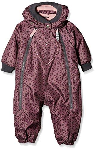Racoon Baby-Mädchen Sally Mixed Dot Schneeanzug (9.000 Wassersäule), Mehrfarbig (Grape Shake Gra), 98