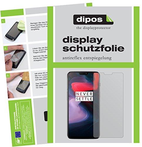 dipos I 6X Schutzfolie matt passend für OnePlus 6 Folie Displayschutzfolie