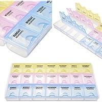 NiceButy Pillendose aus Kunststoff, abnehmbare Tablettenbox für Medikamente mit 3 Zeilen für die tägliche Planung... preisvergleich bei billige-tabletten.eu