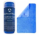 Fitness towel »CoolDown« / sports towel, IceTowel / BIG 65 x 42 cm / EXTRA absorbent, quick-drying, velvety soft / blue