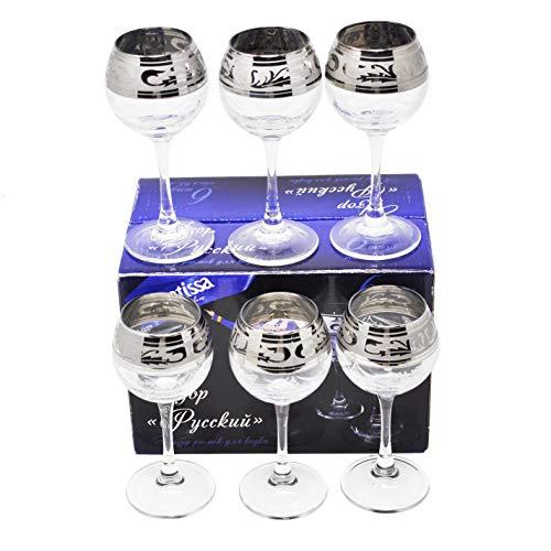 Set di 6 bicchieri da liquore - Ideali per grappa, cognac, digestivi