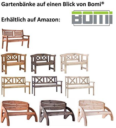 Gartenbank 3 Sitzer Jorn Von Bomi | Holzbank Kirschbaum Wetterfest Lasiert  FSC Kiefernholz 140cm Garten Sitzbank