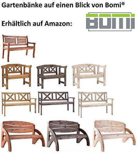 Bomi 2 Sitzer Gartenbank Holz Massiv