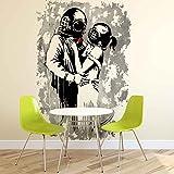 Wallsticker Warehouse Blur Think Tank Banksy Graffiti Fototapete - Tapete - Fotomural - Mural Wandbild - (2909WM) - XXL - 206cm x 275cm - VLIES (EasyInstall) - 2 Pieces